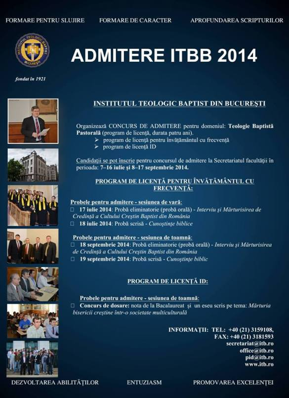 Admitere ITBB 2014