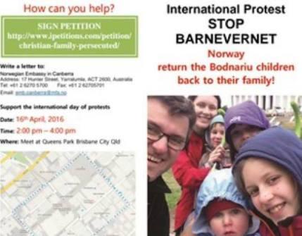 April 16th Global Protest for Bodnariu family