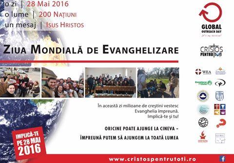 Ziua Mondială de Evanghelizare-28 Mai 2016-pentru prima dată în România...
